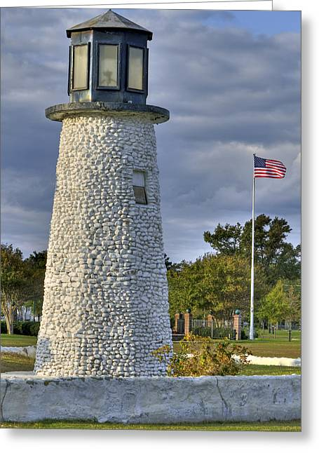 Old Buckroe Lighthouse Greeting Card by Jerry Gammon