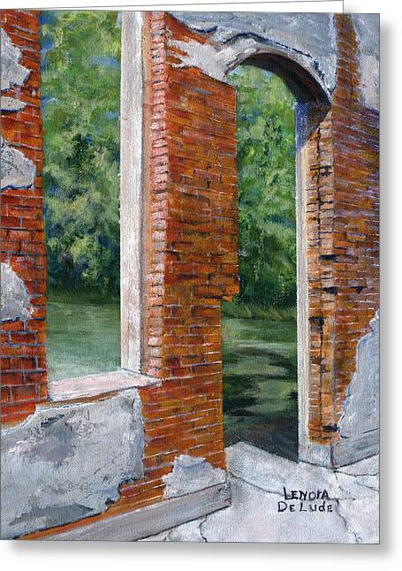 Old Building In Pleasant Hill Louisiana Greeting Card