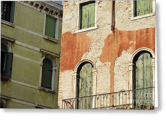 Old Buildings Facades Greeting Card by Sami Sarkis