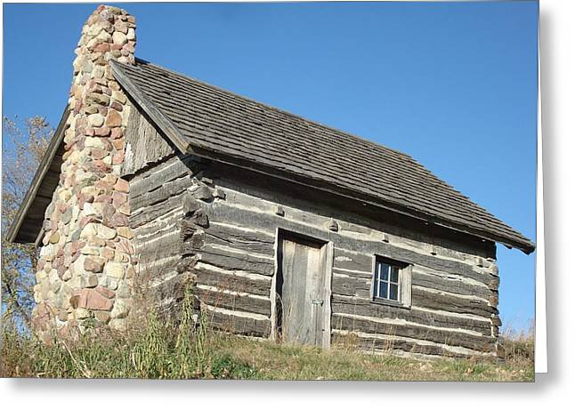 Old Cabin Greeting Card by J L Zarek