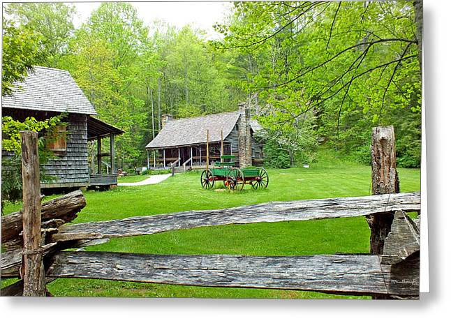 Old Cabins At The Cradle Of Forestry Greeting Card