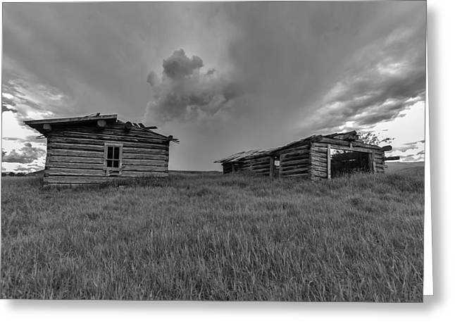 Old Cabins Resting Greeting Card by Stellina Giannitsi