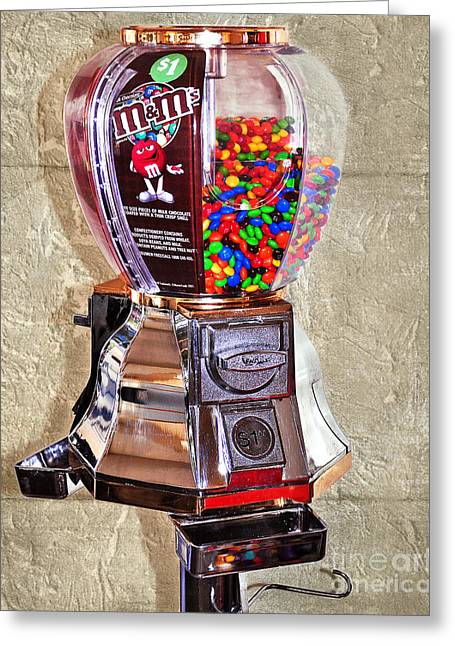 Old Candy Dispenser - New Candy 2 Greeting Card
