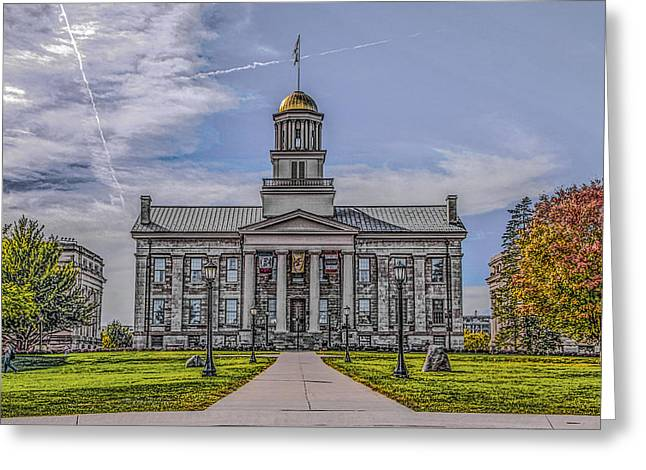 Old Capitol Greeting Card by Ray Congrove