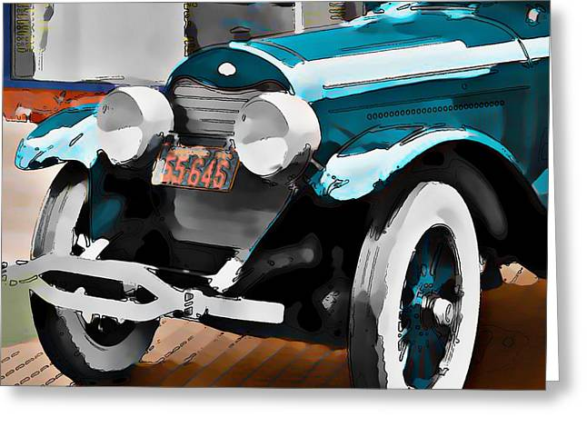 Old Car Greeting Card by Robert Smith