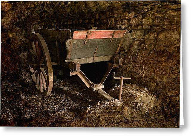 Old Cart Greeting Card by Liz  Alderdice