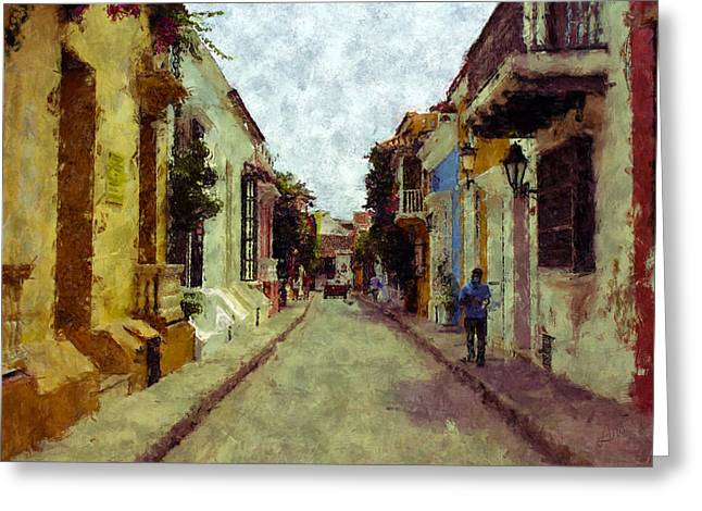 Old Cartagena 1 Greeting Card by Kurt Van Wagner