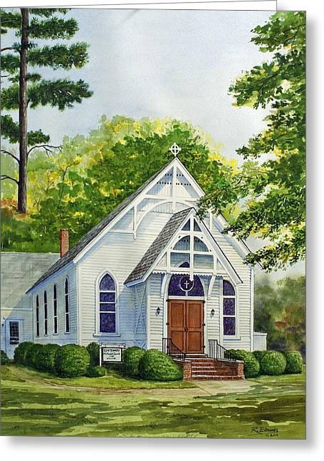 Old Centenary Methodist Church Greeting Card by Raymond Edmonds