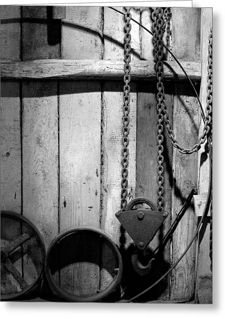 Old Chain With Hook Greeting Card