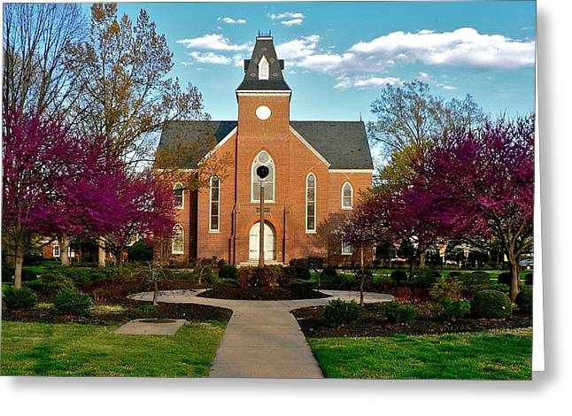 Old Chapel In Spring Greeting Card