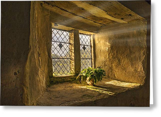 Old Chapel Window Sill Greeting Card by Mal Bray