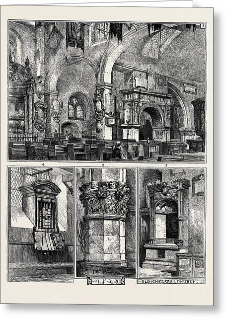Old Chelsea Church 1. Interior Greeting Card