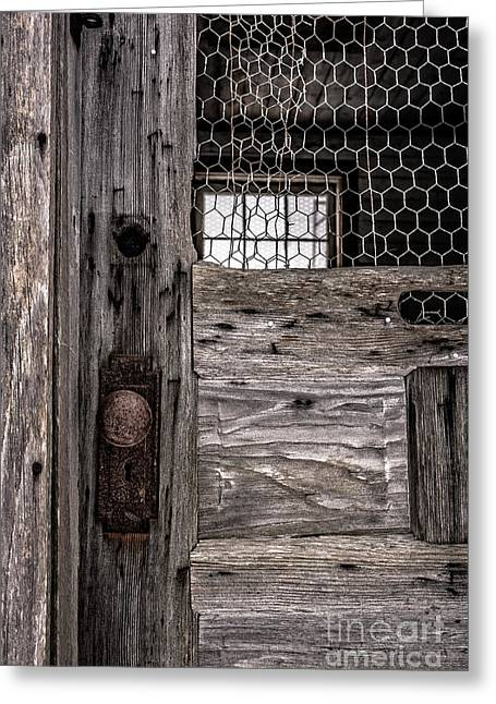 Old Chicken Coop Greeting Card by Edward Fielding