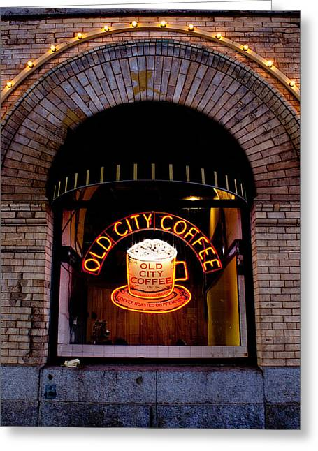 Old City Coffee Greeting Card