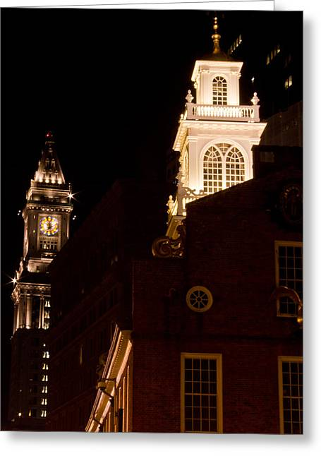 Old City Hall And Custom House Tower Greeting Card