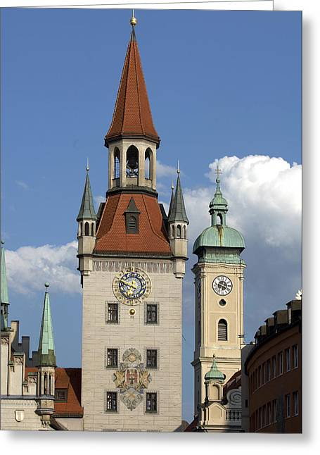 Old City Hall, Marienplatz, Munich Greeting Card by Tips Images