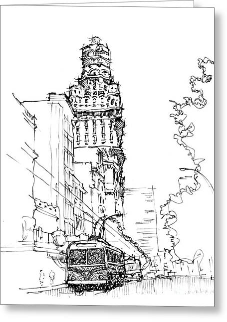 Old City Montevideo Greeting Card by Pablo Franchi