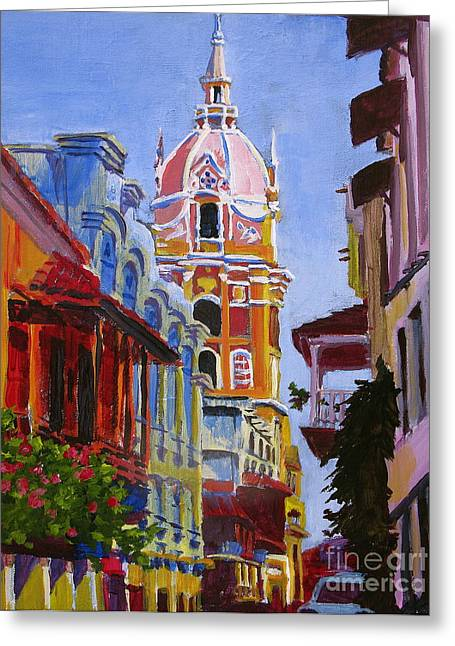 Old City Of Cartagena Colombia Greeting Card