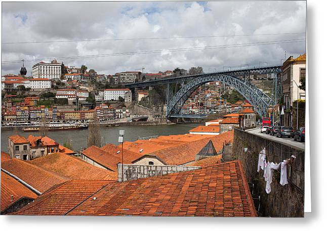 Old City Of Porto In Portugal Greeting Card by Artur Bogacki