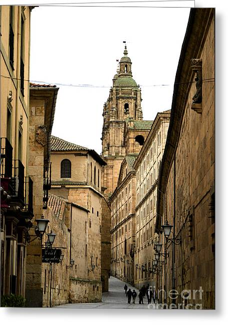 Old City Of Salamanca Spain Greeting Card