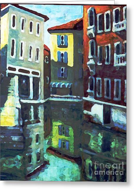 Old City Of Venice In Sunlight Greeting Card by Rita Brown