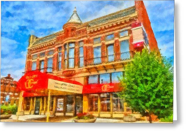 Old City Prime Restaurant Lima Ohio Greeting Card
