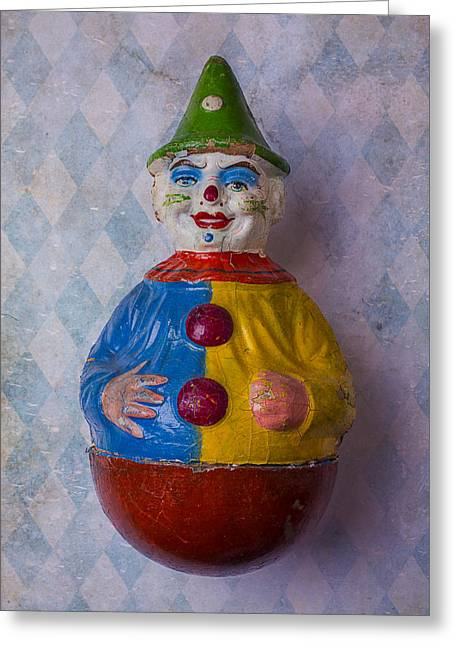 Old Clown Toy Greeting Card