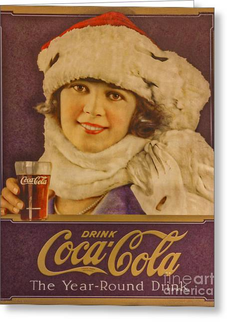 Old Coca Cola Sign Greeting Card by Mitch Shindelbower