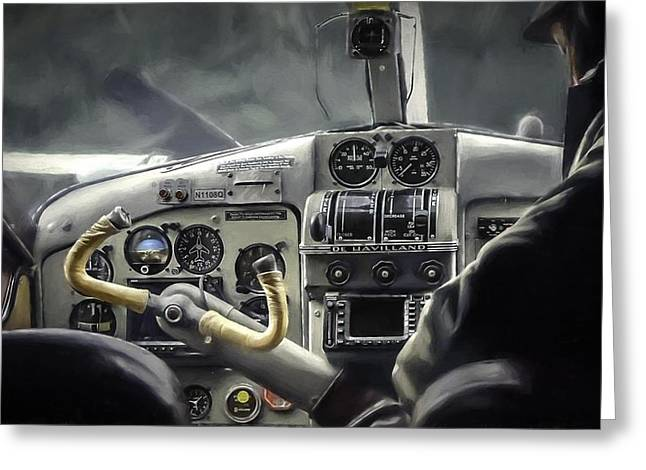 Old Cockpit Greeting Card by Barb Hauxwell