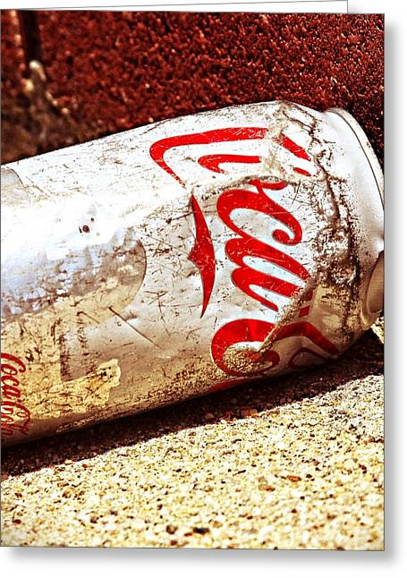 Old Coke Can Greeting Card