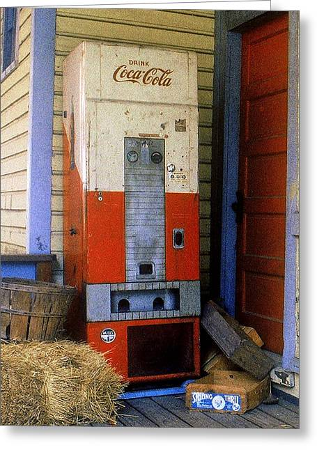 Old Coke Machine Greeting Card