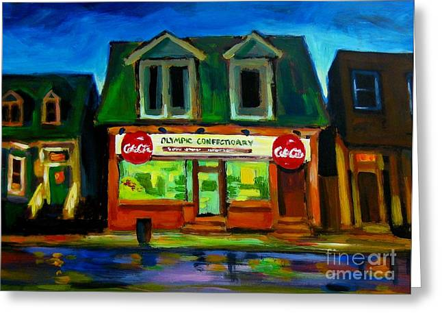 Old Confectionary Store Greeting Card by John Malone