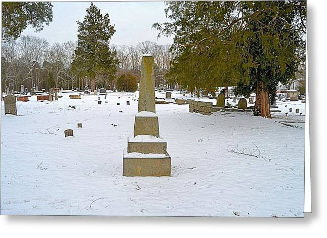 Old Conyers Cemetery In Snow Greeting Card