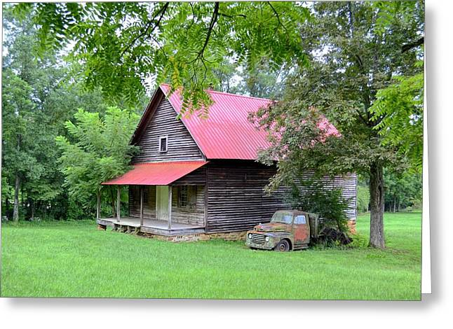 Old Country Cabin Greeting Card by Bob Jackson