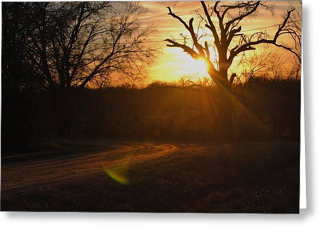 Old Country Road. Greeting Card by Rachel Bazarow