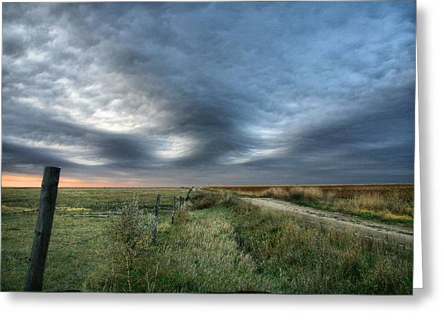 Greeting Card featuring the photograph Old Country Road by Shirley Heier