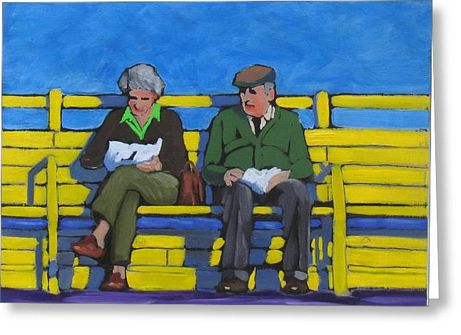 Old Couple Greeting Card
