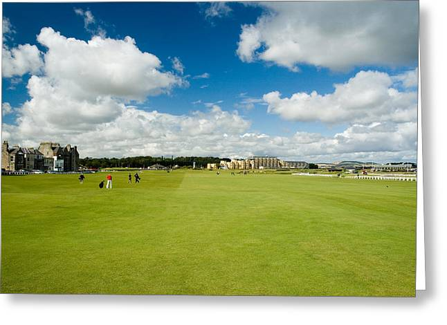 Old Course Fairways Greeting Card by Jeremy Voisey