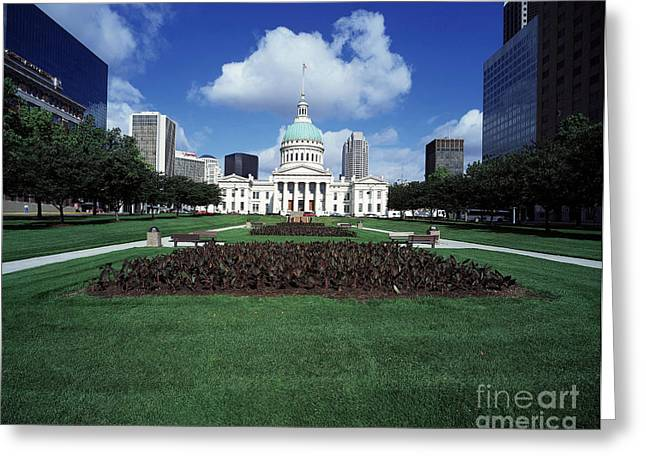 Old Courthouse Greeting Card by Rafael Macia
