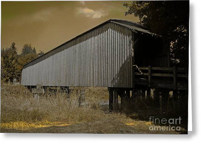 Old Covered Bridge  Greeting Card by Beverly Guilliams