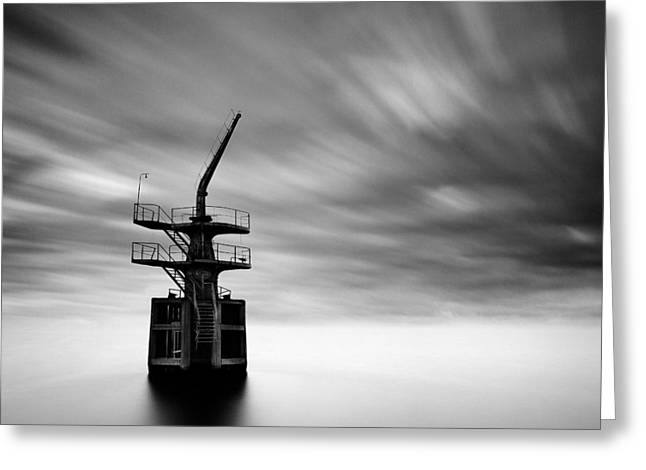Old Crane Greeting Card by Dave Bowman