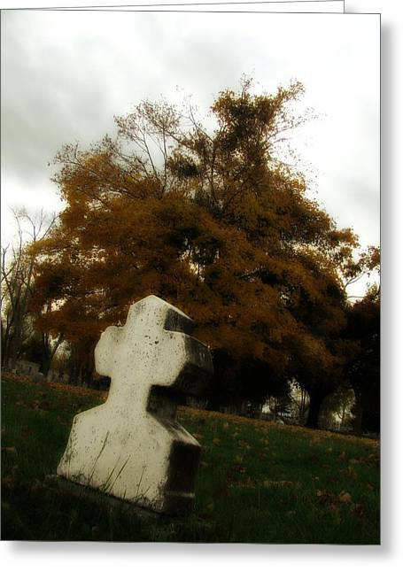 Old Crooked Cross Greeting Card by Gothicrow Images