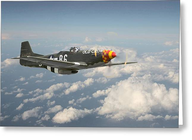 P51 Mustang - 'old Crow' Greeting Card