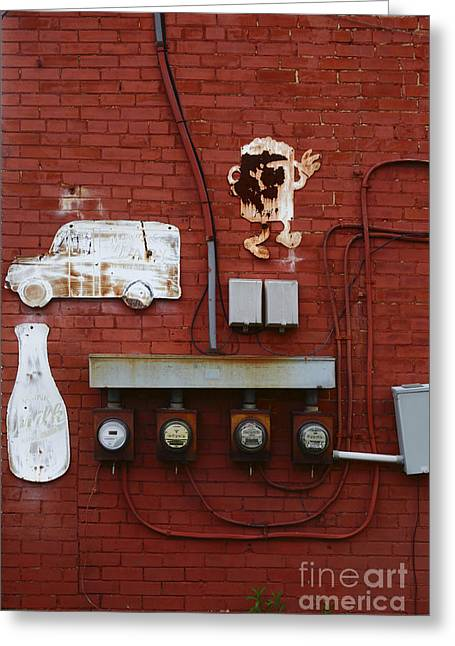 Old Dairy Wall 2 Greeting Card by James Brunker