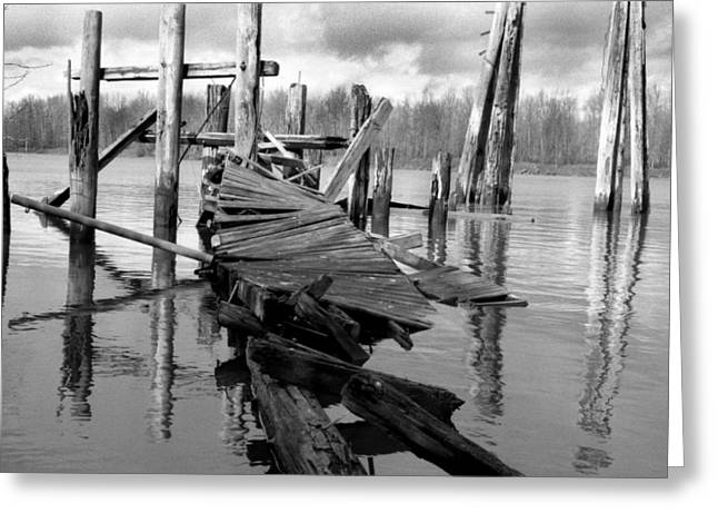 Old Dock Greeting Card