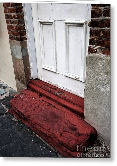 Old Door In Charleston Greeting Card