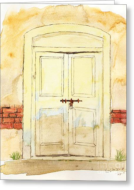 Old Door Greeting Card by Keshava Shukla