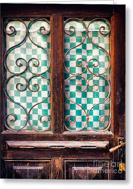 Greeting Card featuring the photograph Old Door by Silvia Ganora