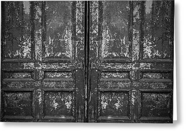 Old Doors Greeting Card by Edward Fielding
