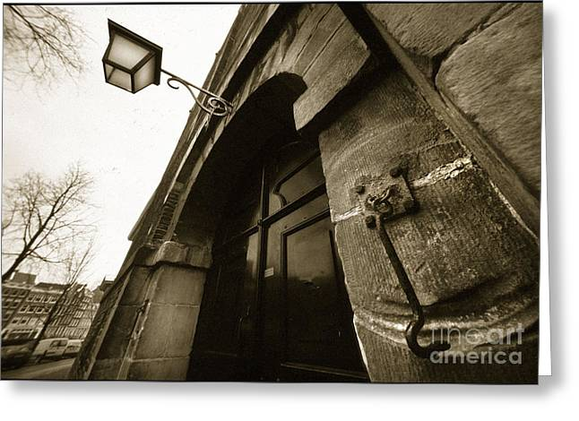Greeting Card featuring the photograph Old Doorway In Amsterdam by Michael Edwards